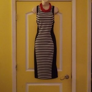 "Super Cute ""Navy and White"" Stripe Dress"